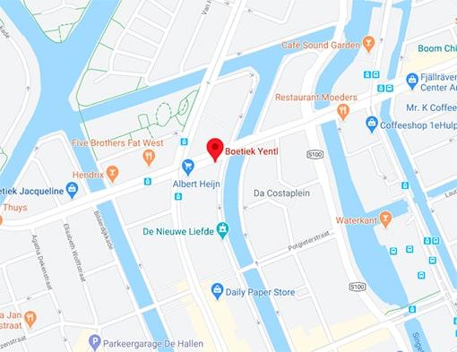 Locatie Amsterdam Boetiek Yentl