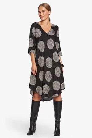 masai jurk zwart print